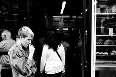 This is London (macabrephotographer) Tags: street camera city uk family friends light portrait england blackandwhite bw music woman man streets london art face rain night train 35mm river underground lens lowlight nikon kissing punk day cops bokeh shots britain candid police bigben loot british nikkor riots alternative stealing bagpipe looting rioters bukingham ukriots