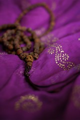 365/217 ::mala:: (Child Of The Stars) Tags: scarf skull beads purple kali prayer meditation shiva mala