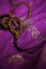 365/217 ::mala:: (Child Of The Stars) Tags: scarf skull beads purple kali prayer meditation shiva mala