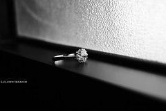 What hurts the most is to see your engagement ring (Luluwh Al Omari) Tags: lighting bw white black mike me window girl by lens was is blackwhite do photographer natural tell sony muslim islam religion picture taken first august best ring rings what kit 1855mm alpha ibrahim ever   islamic     pome   pomes a290 2011                        luluwh