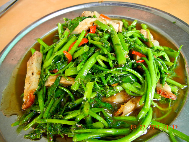 DSCN1846 炒西洋菜,Fried Watercress