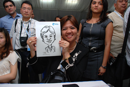caricature live sketching for Singapore International Water Week Closing Dinner - 33