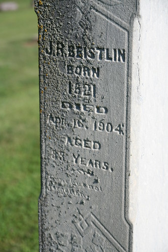 Close up J.R. Beistlin tombstone
