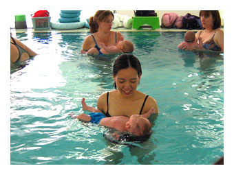 2003 - Callum (3mo) at Swimming Lessons
