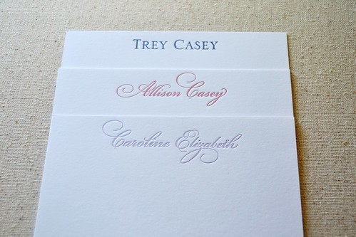 Three Casey cards