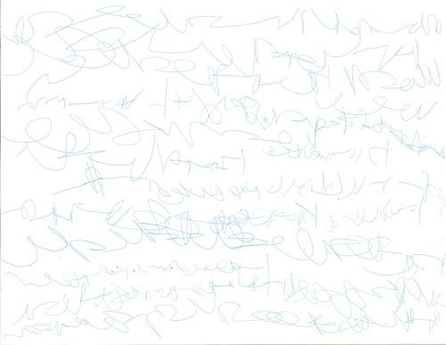Asher's Writing (Left-Handed)