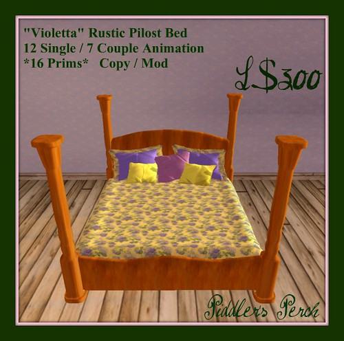 """Violetta"" Rustic Pilost Bed"
