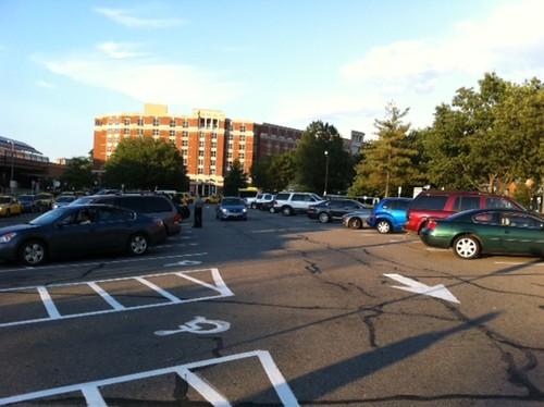 King Street Metro Station Parking Lot - Evening