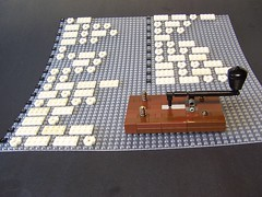 Lego Morse Code Key (monsterbrick) Tags: key message lego sos telegraph morsecode messaging morse moc wiremachine
