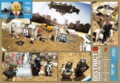 DISTRICT 9 Set Up shot (Shobrick) Tags: dog up statue set ship lego district space smoke alien 9 soil custom slum prawn mnu vikus shobrick