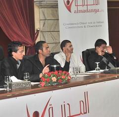 Panel des étudiants lors de la conf Démocratie et Constitution