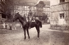 German soldier riding his horse (paws22) Tags: horses man soldier austria hungary wwi ww1 worldwar1 austrohungarian rppc realphotopostcard