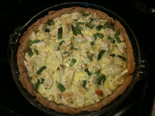 Asparagus Cauliflower Quiche