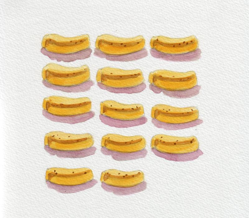 Banana marshmallows