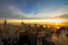 After the Rain: Sunset from Top of the Rock (RBudhu) Tags: newyorkcity rockefellercenter timessquare empirestatebuilding gothamist bluehour statueofliberty gotham lowermanhattan topoftherock 30rock gothamcity bankofamericatower midtownskyline newyorkcitysunset midtownmanhattanskyline empirestateofmind bluehournewyork