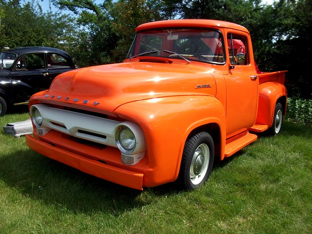 orange truck mercury canadian 1956 m100