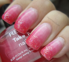 Pink Syrup Glitter Nails (sugarmedic88) Tags: pink glitter nail mani sparkle nails manicure syrup nailpolish