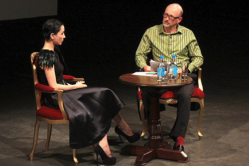 Principal of The Royal Ballet Tamara Rojo in conversation with writer Luke Jennings © ROH 2011