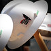 Stickered hard hats sit atop a shovels after the Talley groundbreaking ceremony.