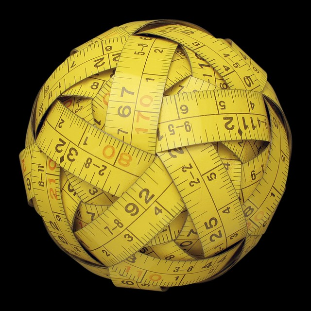 Measuring tape sphere