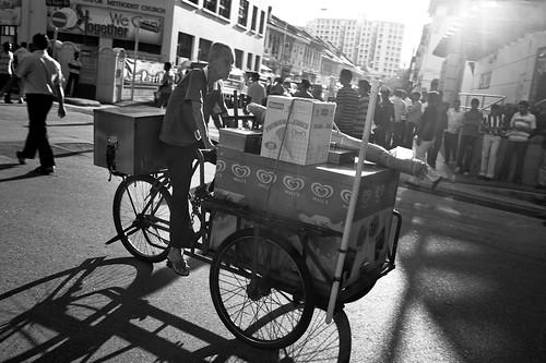 Ice Cream seller near Kampong Kapor Methodist Church