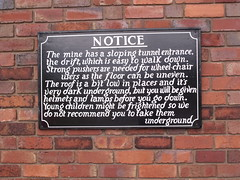 Black Country Living Museum - Underground Mine - sign - Notice