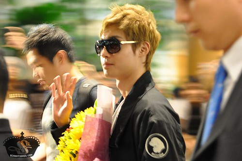 Kim Hyun Joong at Changi Airport Singapore [110817]