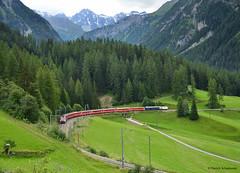 Ge 4/4 III 650 Werbelok Unesco (vsoe) Tags: schweiz switzerland swiss unesco albula weltkulturerbe rhb rhätischebahn bergün schmalspurbahn werbelok ge44iii