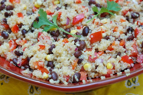 Southwestern Quinoa Salad by Eve Fox, Garden of Eating blog, copyright 2011