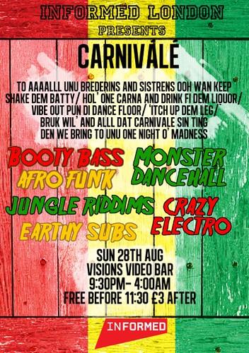 Carnivale flyer