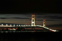 Afterglow (Dorn Gallatin) Tags: sunset lake lakehuron mackinacbridge afterglow straitsofmackinac mackinawcity
