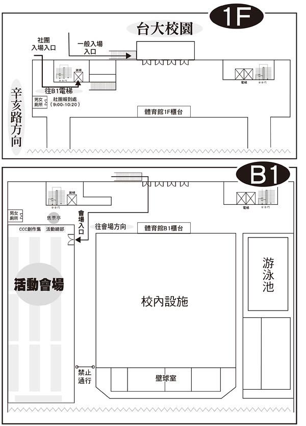 COMIC NOVA入場動線圖