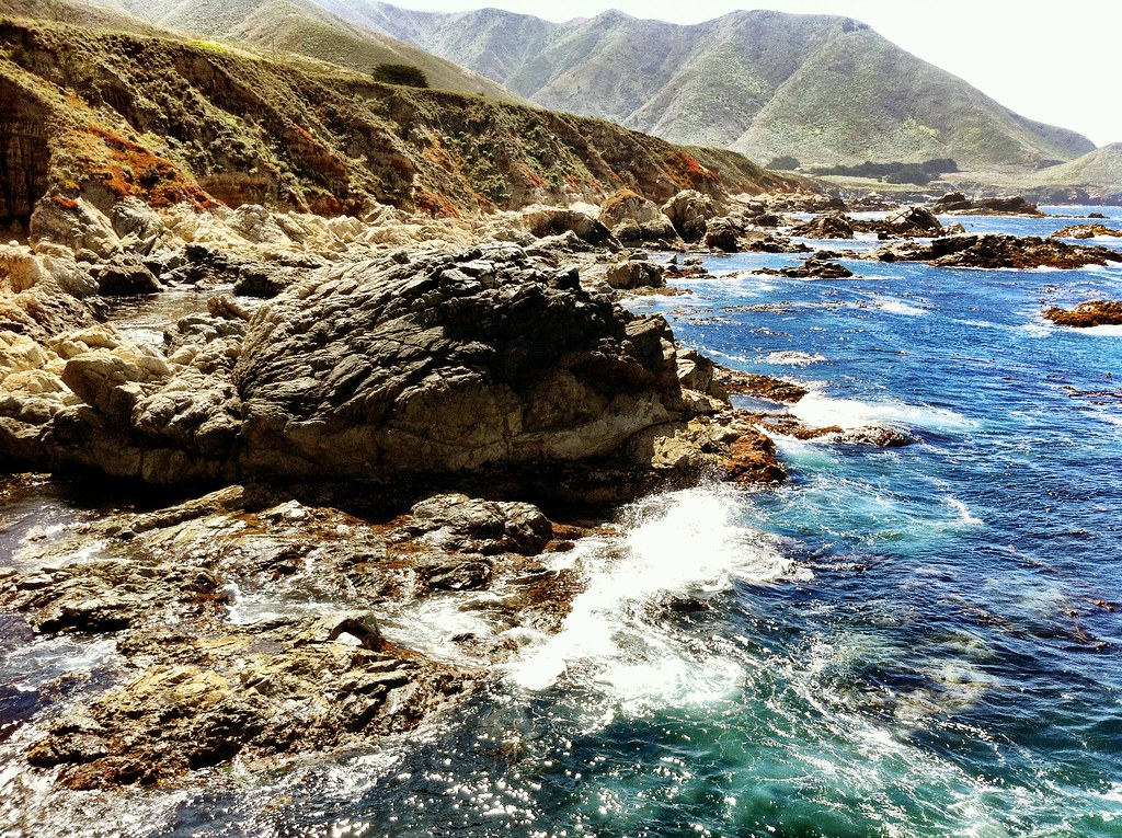 iPhone 4 image of the California Coastline in Big Sur