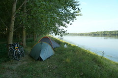 Wild camping on the Romanian Danube