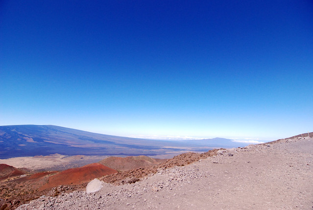 Driving to the summit of Mauna Kea