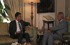 UfMS Secretary General Ahmad Masa'deh meets with the Egyptian Foreign Minister Ahmed Aboul Gheit (ahmadmasadeh) Tags: ahmad masadeh