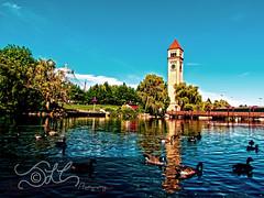 Riverfront Park - Spokane, WA (JLC Photography Spokane,WA) Tags: park tower clock river duck washington spokane ducks clocktower riverfront