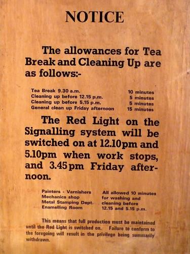 Tea Break Rules