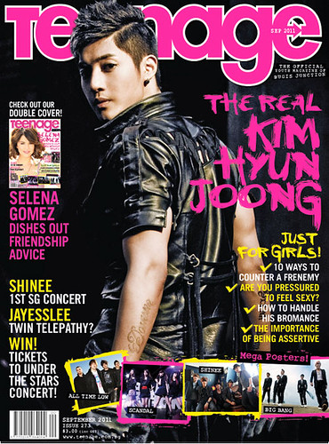Kim Hyun Joong Teenage Singapore Magazine Vol. 273 Sep 2011 Issue