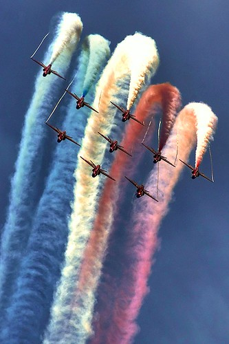 Red Arrows Roll by Phil-Clements