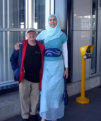 Me train station (Kunigunde) Tags: me hijab prideparade 2011