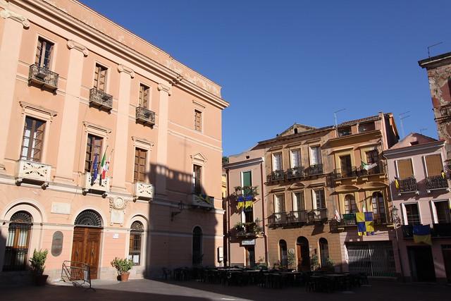 Piazza del Municipio, Iglesias, Sardinia.