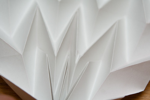 Pleated folded paper - detail