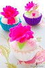 Flowers and Pearl! (Little Cottage Cupcakes) Tags: pink toy purple turquoise limegreen felt cupcake hotpink playfood littlecottagecupcakes