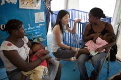 11-03-16-Pregnant women training 20 (UNICEF Haiti) Tags: unicef camp children haiti earthquake tent breastfeeding diet cholera nutrition malnutrition portauprince energybiscuits
