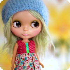 Flynn  (Angel~Lily) Tags: she green alpaca vintage project photo doll 5 no just messy restoration while kenner blythe had custom fabulous 1972 because flynn hairs hasnt in  a angel~lily
