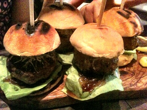 Iberico pork burgers - The Opera Tavern