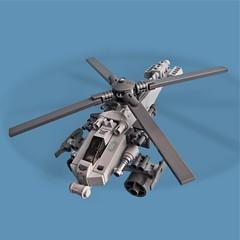 Tonbo S72 - Gunship (Fredoichi) Tags: chopper lego space military helicopter micro shooter gunship shootemup ghettobird shmup microscale fredoichi