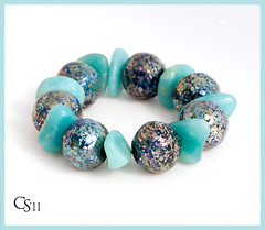 Amazonia ~ Lampwork Glass Bead Set by Clare Scott (Photography by Clare Scott) Tags: uk glass scott beads clare lampwork sra