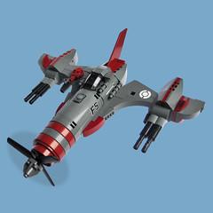 Bekkōbachi Zero - Sky Fighter (Fredoichi) Tags: plane lego space military micro shooter shootemup skyfi shmup microscale dieselpunk skyfighter fredoichi